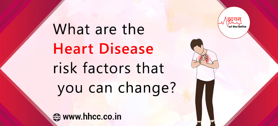 What are the heart disease risk factors that you can change?